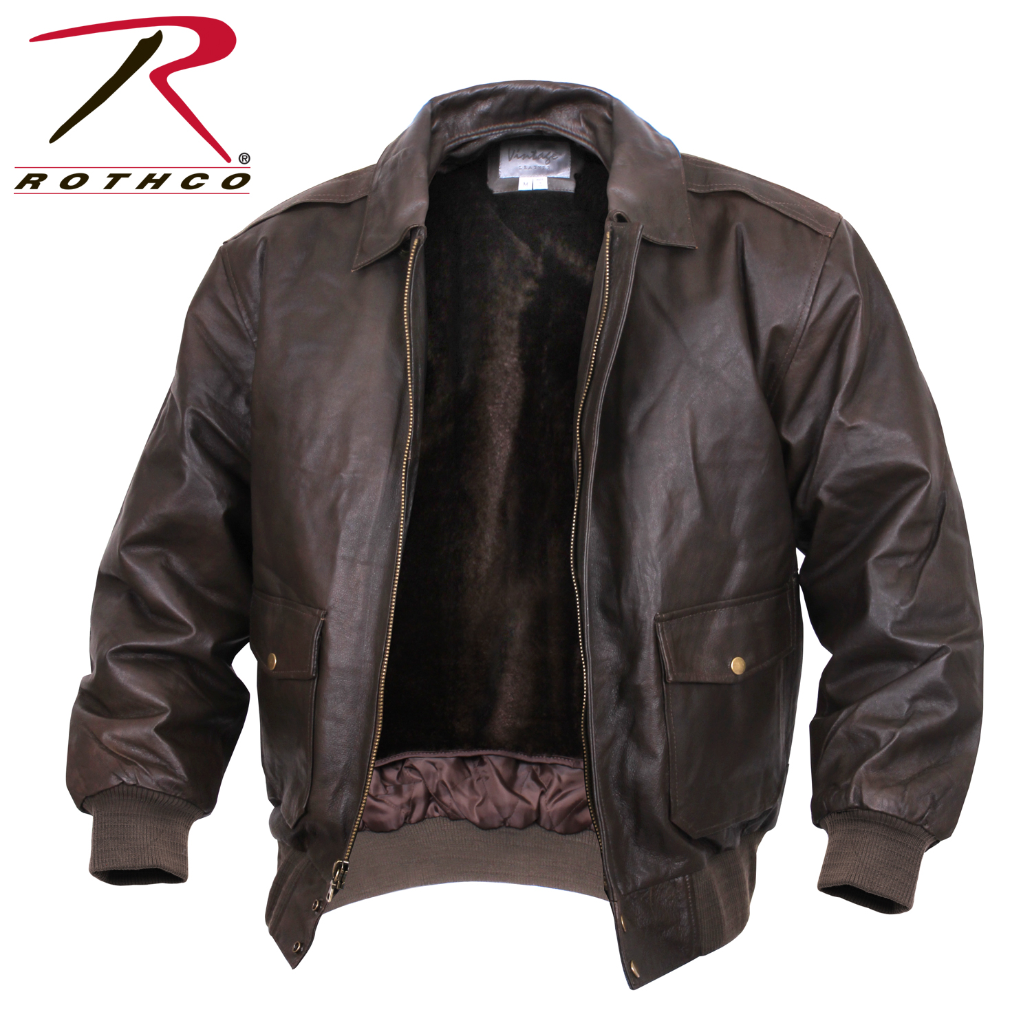 fdeb22ae5 Rothco Classic A-2 Leather Flight Jacket