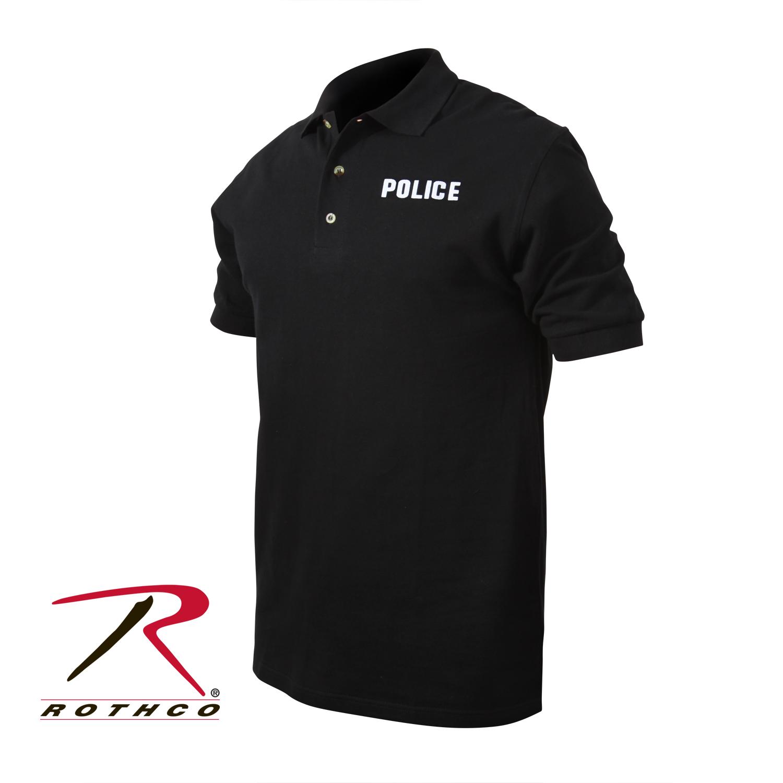 Rothco Black Law Enforcement Printed Polo Shirts