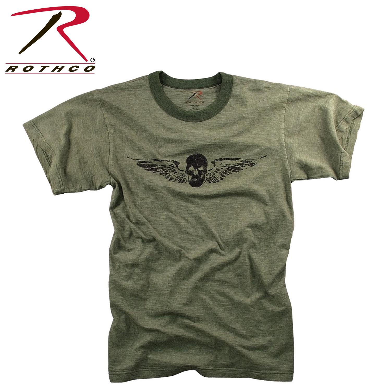 Rothco Vintage Skull Wing Slub T Shirt