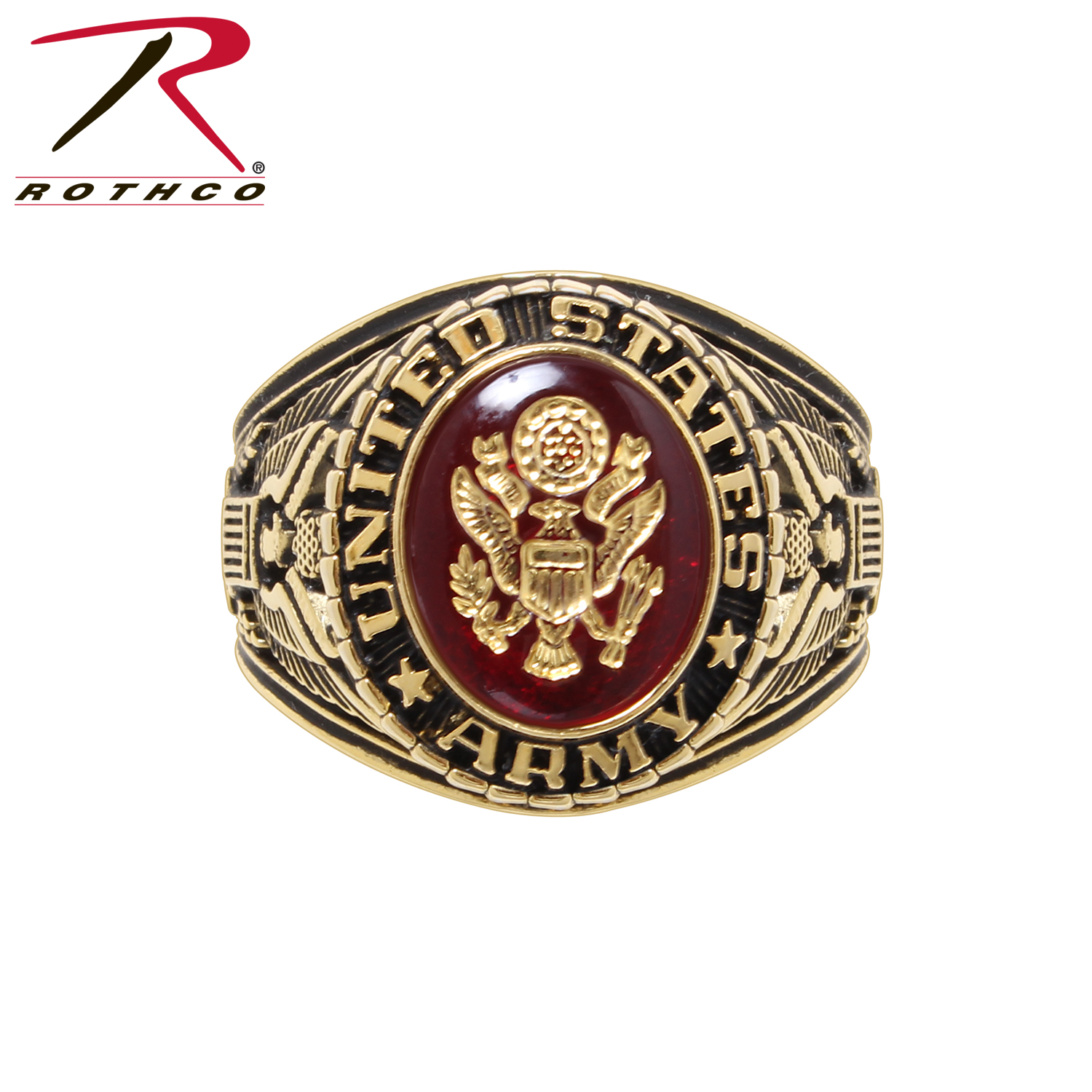 Brass Deluxe Engraved Ring Marines