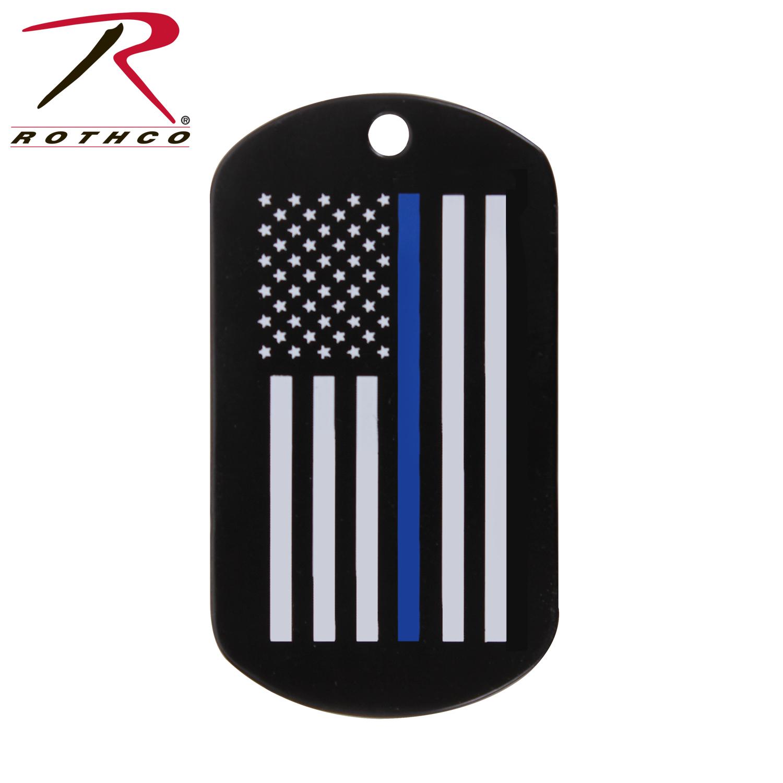 Rothco Thin Blue Line Dog Tag 3ff6719928c