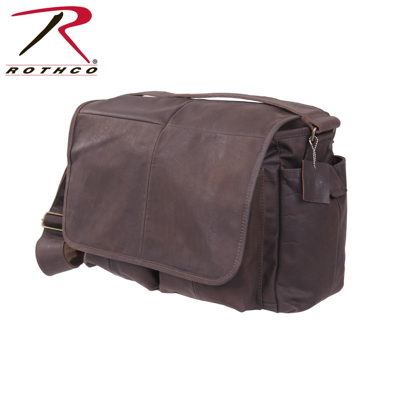 Rothco Leather Classic Messenger Bag