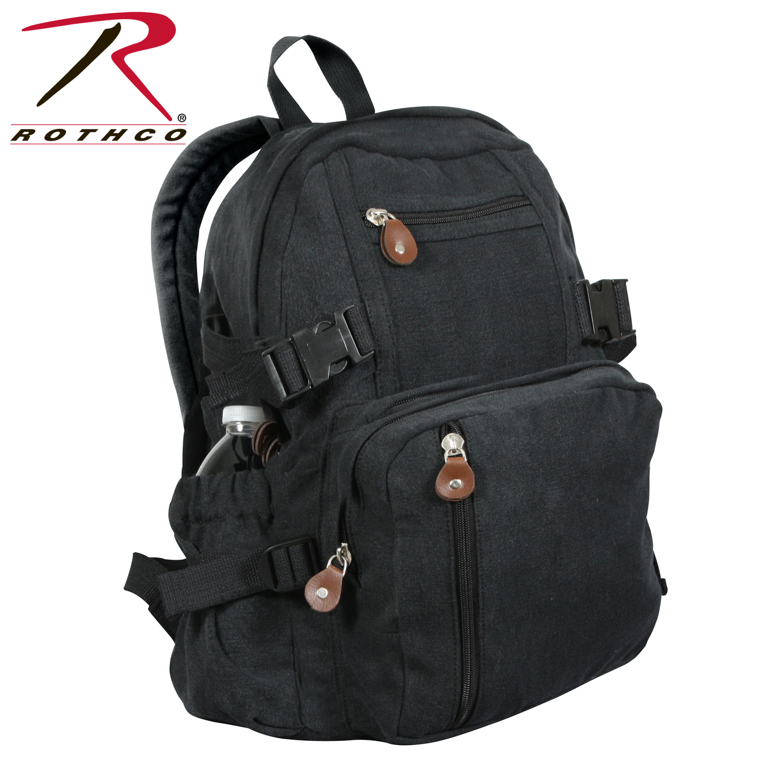 129856975 Rothco Vintage Canvas Compact Backpack