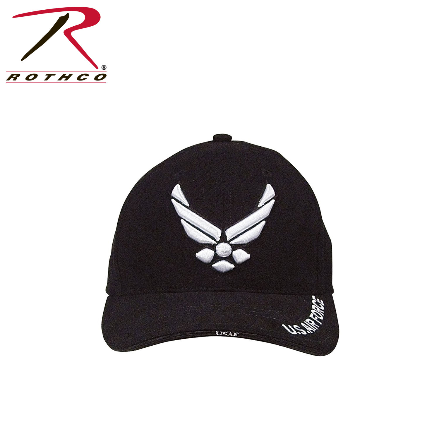 3635592c94134 Rothco Deluxe U.S. Air Force Wing Low Profile Insignia Cap