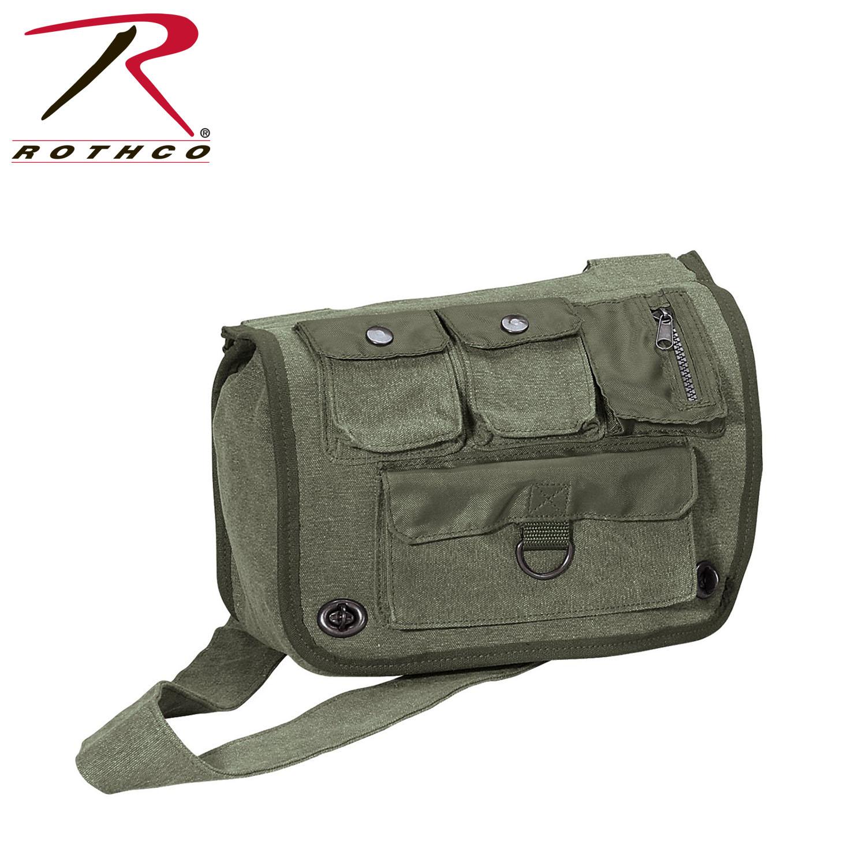 Rothco Vintage Canvas Venturer Survivor Shoulder Bag a73df836400