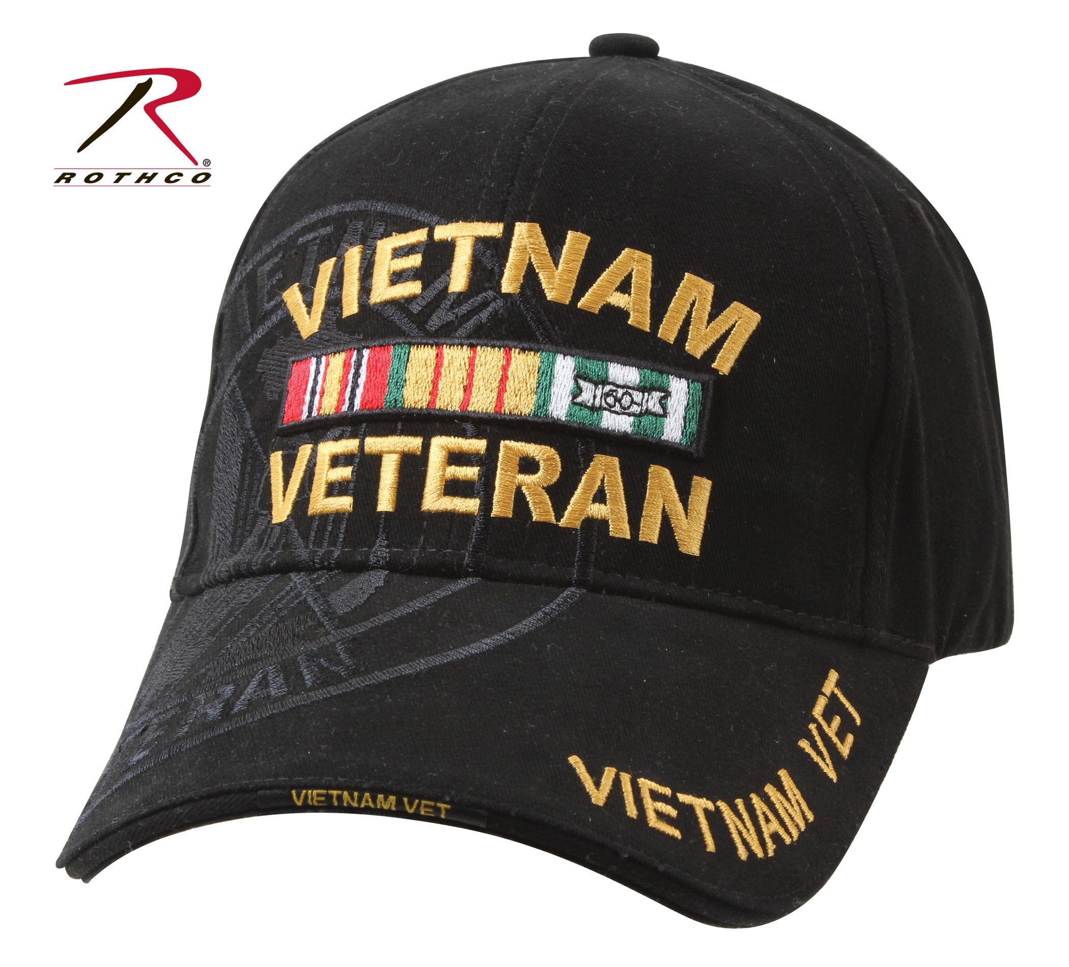 93dffc9e9c4 Rothco Deluxe Vietnam Veteran Military Low Profile Shadow Caps