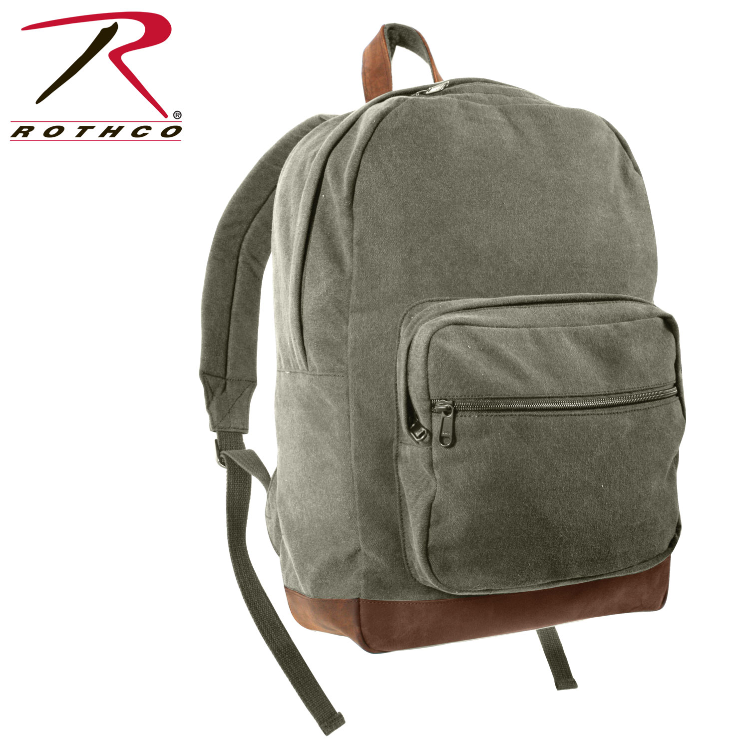 baade6d1cc16 Rothco Vintage Canvas Teardrop Backpack With Leather Accents