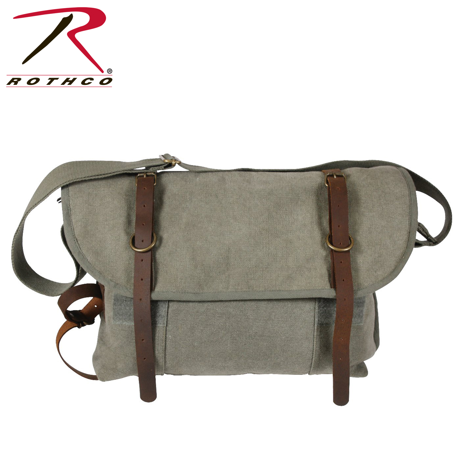 ff292247d308 Rothco Vintage Canvas Pathfinder Laptop Bag With Leather Accents