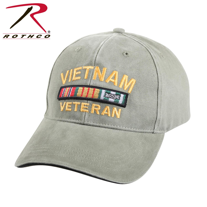 c26fe47f38d Rothco Vietnam Veteran Deluxe Vintage Low Profile Insignia Cap
