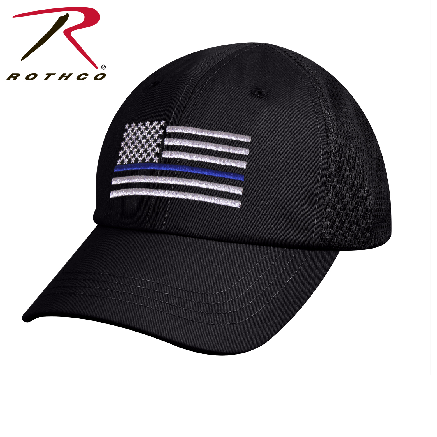 657c0c466 Rothco Tactical Mesh Back Cap With Thin Blue Line Flag