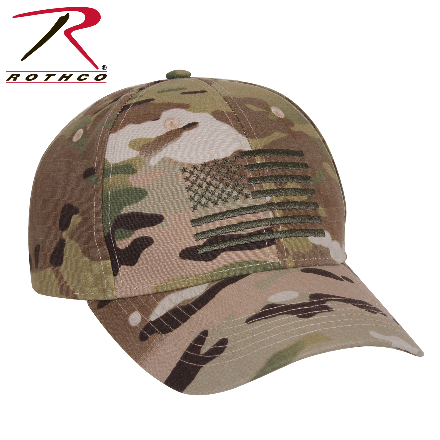 Rothco Low Profile Cap With US Flag 644b5ddb257