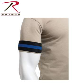 mourning band, mourning arm band, rothco mourning arm band, funeral arm band, fallen police officer, law enforcement, police officers, mourning, respect, honor, police, police officers, thin blue line, tbl, thin blue line mourning band, tbl mourning band, thin blue line accessories, thin blue line support