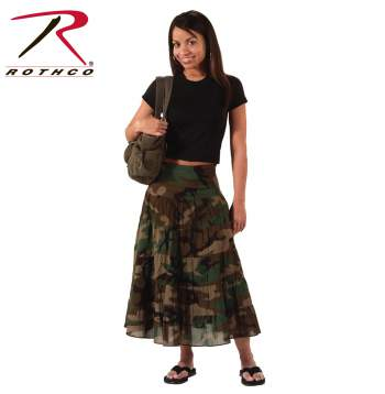 womens camo,camo,camouflage,woodland camo,womens skirt,camo skirt,camouflage skirt,womens camouflage,camo clothing,camouflage clothing,skirt,long skirt,long camo skirt,gauze skirt,flowy skirt,knee length skirts,woodland camouflage