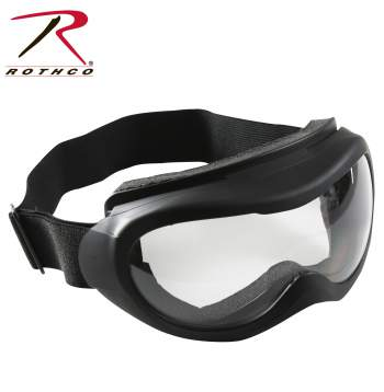 Rothco Tactical Goggles, tactical goggles, black with clear lens, black clear lens, goggles, eyewear, glass lenses, eyewear goggles, military goggles, anti-fog, anti-scratch, anti fog, anti scratch