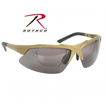 Rothco Tactical Eyewear Kit Coyote, polycarbonate lens, plastic, eyewear, goggles, glasses, tactical eyewear, shatterproof, coyote brown, wholesale tactical eyewear