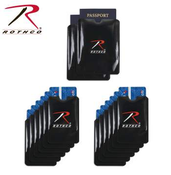RFID, RFID blocking, RFID Sleeves, RFID Credit card, RFID Passport, RFID Blocking Sleeves, radion frequency identification, electronic skimming, rfid electronic skimming, identity theft protection, rothco rfid blocking sleeves, rothco rfid blocking,