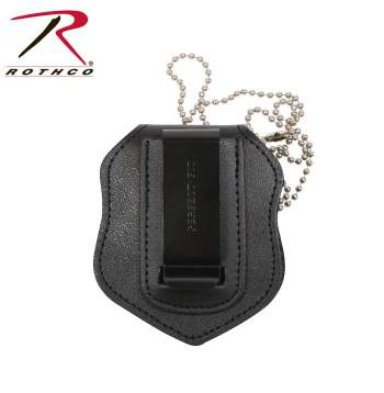 ID holder,badge holder,leather holder,leather ID case,ID case,clip on ID holder,Idenification holder,idenification badge holder,clip-on badge holder,clip on,clip-on,clip-on badge, NYPD police badge holder, police badge, badge holder for police, neck badge holder with chain,