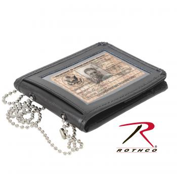 id holder, identification holder, leather id holder, leather neck id holder, wallet,