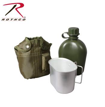 Rothco 3 Piece Canteen Kit With Cover & Aluminum Cup, Rothco 3 piece canteen kit, Rothco canteen kit with cover and aluminum cup, Rothco 3 piece canteen kit with cover and aluminum cup, Rothco canteen kit, Rothco canteen kits, 3 piece canteen kit with cover and aluminum cup, 3 piece canteen kit with cover & aluminum cup, 3 piece canteen kit, canteen kit with cover and aluminum cup, canteen kit with cover and cup, canteen cover, canteen cup, canteen kit, canteens, aluminum canteen, military canteen, army canteen, water canteen, camping canteen, camping supplies, camping accessories, military canteens, Rothco canteen,