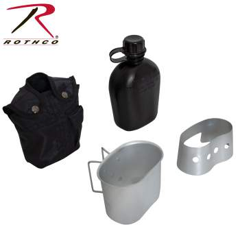 Rothco 4 Piece Canteen Kit With Cover, Aluminum Cup & Stove / Stand, 4 Piece Canteen Kit, military canteen kit, cooking canteen, survival canteen kit, canteen cook set, heavy cover canteen, canteen kit, camping canteen set, canteen cook kit, canteen, canteen stove kit, gi canteen cook set, heavy cover canteen pouch, water canteen, canteen cup, canteen water bottle, military mess kit, metal canteen, army mess kit, camping canteen, survival water bottle, military cup