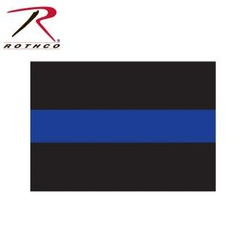 Rothco Thin Blue Line Decal, thin blue line sticker, thin blue line decal, thin blue line car decal, thin blue line decals, thin blue line, thin blue line flag, blue line police, thin blue line flag decal, thin blue line decal for car, police support decal, police decals, window decals, car decals<br />