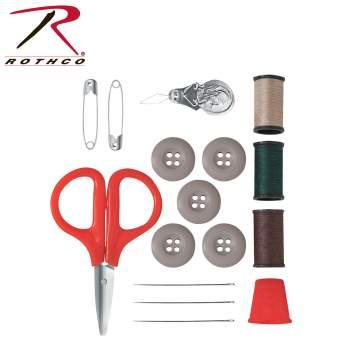 BDU Sewing Repair Kit, sewing kit, military sewing kit, military sewing repair kit, molle sewing kit, bdu repair kit, camo bdu repair kit, thread and needles, buttons, kit, repair kit