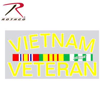 Vietnam Vet Decal, vietnam veteran decal, vietnam veteran, car decal, clear background, car sticker, sticker, decal, decals