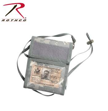 Rothco Deluxe ID Holder, badge holder, lanyard, badges, ID holder, photo holder, id badge, neck id holder, Neck badge holder, military ID holder, ID storage, wallet, travel documents, document storage, id pouch holder, identification holder, id badge holder, badge card holder