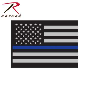 Rothco Thin Blue Line Flag Decal, thin blue line sticker, thin blue line decal, thin blue line car decal, thin blue line decals, thin blue line flag decals, thin blue line flag decal, thin blue line, thin blue line decal for car, thin blue line flag decal for car, police support decal, police decals, car decal, window decal, thin blue line, thin blue line car decal, thin blue line window decal,