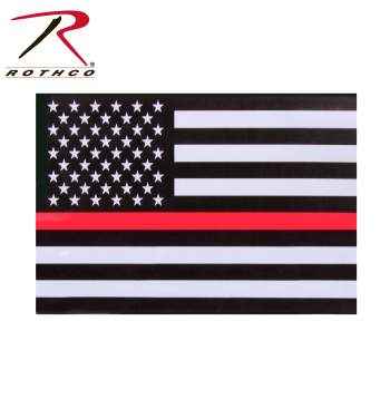 Rothco Thin Red Line Flag Decal, thin red line flag decal, thin red line decal, thin red line flag, flag decal, thin red line, thin red line sticker, car decal, thin red line car decal, thin red line decals, firefighter decal, firefighter flag decal, window decal,