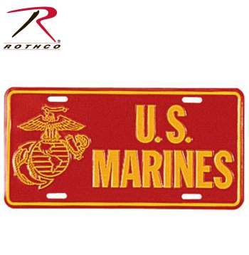 US marines, US marines license plate, decorative license plate, military license plate, car accessories, USMC, united states marine corp, US marine corp, U.S., US, U.S<br />