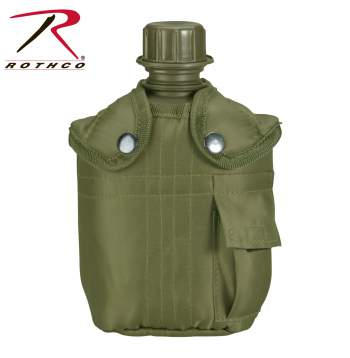 Rothco G.I. Type Canteen & Cover, G.I. Type Canteen & Cover, G.i. Canteen With Cover, Canteen, Canteen Cover, GI Style Canteen, Canteen With Cover, Canteen And Cover, military canteen, army canteen, G.I. Canteen