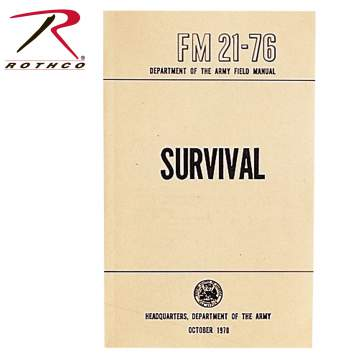survival manual, survival book, survival guilde, military survival guide, manual,