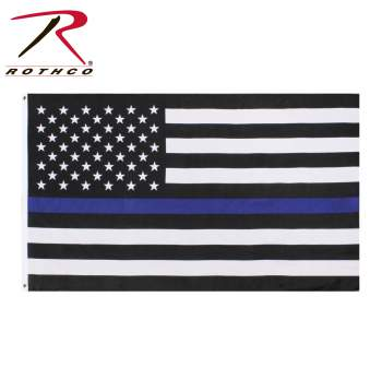 Rothco Thin Blue Line Flag, thin blue line flag, thin blue line, blue line, blue line flag, thin blue line flags, american flag with blue stripe, black flag with blue stripe, thin blue line products, law enforcement flag