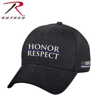 Rothco Honor and Respect Low Profile Cap, honor, respect, tbl, thin blue line, police pride, law enforcement officials, caps, hats, low profile caps