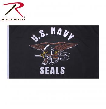 Rothco United States Navy Seals Flag, rothco flag, vietnam veteran, flag, flags, vietnam veteran banner, banner, banners, navy seals, navy, navy seal flag, navy flag, us navy seal flag, american navy flag, flag, armed forces flag, navy banner, navy seal banner, eagle flag, anchor flag