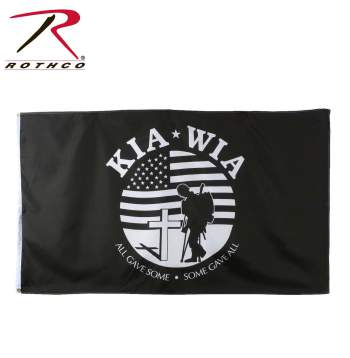 KIA-WIA Flag, flag, kia, wia, killed in action, wounded in action, military flags, wholesale military flags, kia flag, army flags, us flags