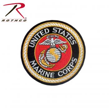 Deluxe Round USMC Patch, marines patch, usmc patch, patch, patches, rothco patch, military patch, military patches