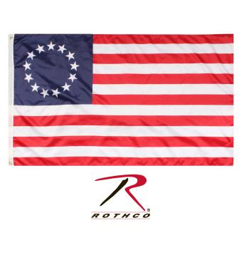 Rothco Colonial Flag / 3' X 5', rothco flag, colonial flag, 3' x 5', polyester, colonial, flag, flags, banner, banners, colonial banner, early American colonial flag, colonial state flag, us colonial flag, colonial American flag, colonial flag of the 13 colonies, original 13 colonies flag, original thirteen colonies flag, united states 13 colonies flag, 13 colonies flag, American 13 colonies flag, Betsy ross flag, ross flag, original American flag, first American flag, 13 Star Flag, Thirteen Star Flag