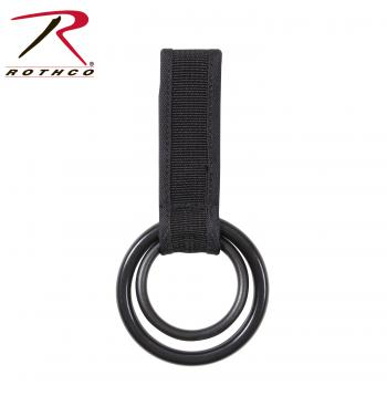 Rothco Two Ring Baton, Light Holder, baton, baton holder, flashlight holder, law enforcement gear, police duty gear, public safety gear, police gear, public safety accessories, duty accessories, tactical lights