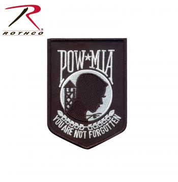 Rothco POW-MIA Patch, pow mia, rothco patch, military patch, patches, prisoner of war, missing in action, patch