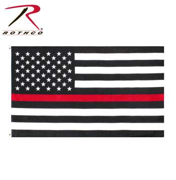 rothco thin red line us flag, thin red line us flag, thin red line usa flag, thin red line flag, us flag, thin red line, firefighter flag, firefighter american flag, thin red line american flag, red stripe flag, us red stripe flag, red flag, red line flag, firemen flag