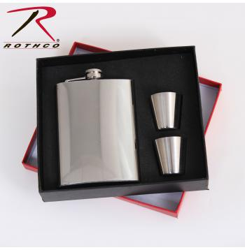 gift set, flask, stainless steel, liquor holder, canteen, gift set, stainless steel flask, 16450