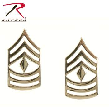First Sergeant Polished Insignia, military insignia, first sergeant, military rank, military ranks, polished, 1st sergeant, first sgt, military gear, rothco