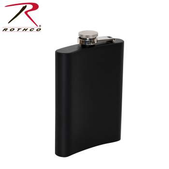 Rothco stainless steel flask, stainless steel flask, rothco flask, rothco steel flask, steel flask, flask, flasks, black flask, silver flask, plain flasks, hip flask, black hip flask, silver hip flask, drink flask, groomsmen gift, groomsmen flask, engraved flask, wedding gift, wedding flask, personalized flask,