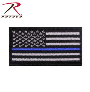Rothco Thin Blue Line Patch, Rothco, Thin Blue Line, The Thin Blue Line, thin blue line flag, think blue line sticker, thinblueline, blue thin line, thin blue line flags, thin blue line products, blue line flag, police blue line, police, law enforcement, thin blue line flag patch, flag patch, blue line patch, patch