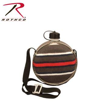 Rothco 2 Quart Striped Desert Canteen, desert canteen, canteen, camping canteen, camping accessories, camping gear, 2-quart canteen, 2-quart desert canteen, Mini desert canteen, bpa free, water canteen, hiking canteen, western canteen, old west canteen, cowboy canteen, saddle canteen