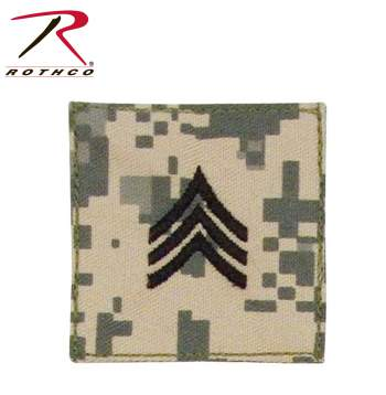 Official U.S. Made Embroidered Rank Insignia - Sergeant, sergeant, sgt, embroidered rank insignia, military insignia, insignias, military pin, rothco