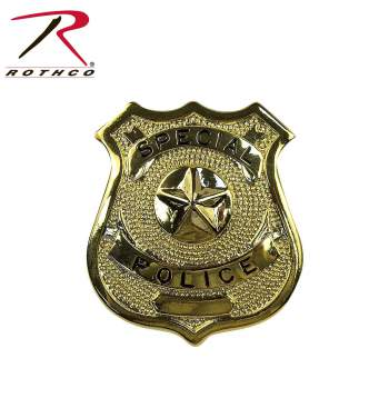 Rothco Special Police Badge, badges,public safety badges,special officer,badge,shield,security shield,gold badge,gold shield,gold police shield,officer,special police,police badge,police,