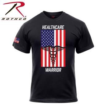 Rothco Healthcare Warrior US Flag T-Shirt - Black, medical symbol, nurse symbol, health symbol, doctor symbol, hospital symbol, Caduceus, Caduceus symbol, medical Caduceus, Caduceus shirt, healthcare shirts, t-shirt for medical, medical shirt, Caduceus T-Shirt, Ferris Bueller's Day Off Shirt, Cameron's Shirt, Cameron shirt, Cameron Shirt from Ferris Bueller's Day Off, graphic shirt, medical symbol shirt, healthcare support shirt, healthcare respect shirt, healthcare warrior, nurse shirt, hospital shirt, healthcare support shirt, t shirt, tee shirt, american flag shirt, american shirt, patriotic shirt, patriotic clothing, flag shirt, us flag shirt, u.s. flag shirt, 4th of july shirt